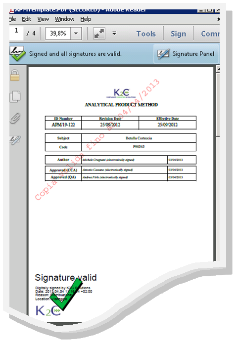 how to add a signatue in a secured pdf file